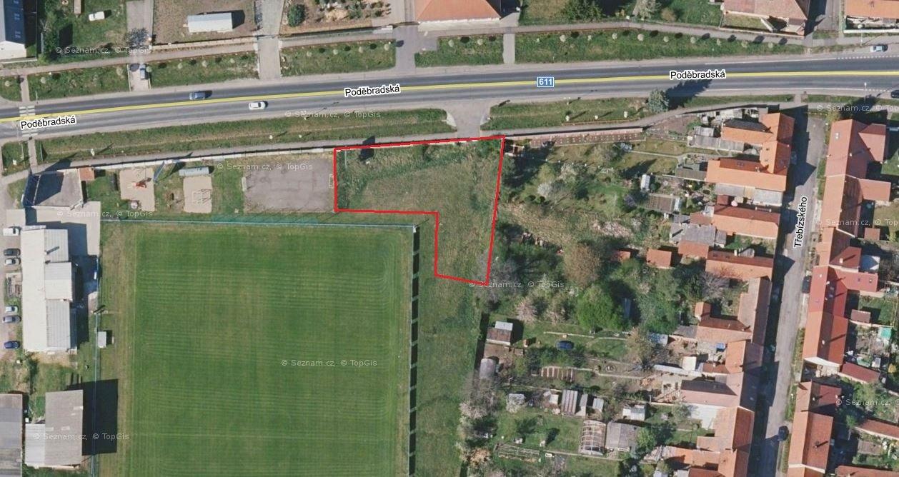Prodej komerčního pozemku 1160 m2, Sadská